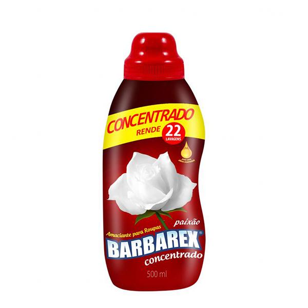 Amaciante Concentrado - Barbarex Paixão - 500 ml