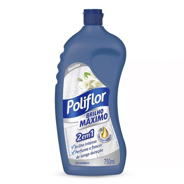 Cera Auto Brilho Incolor - Poliflor Max - 750  ml