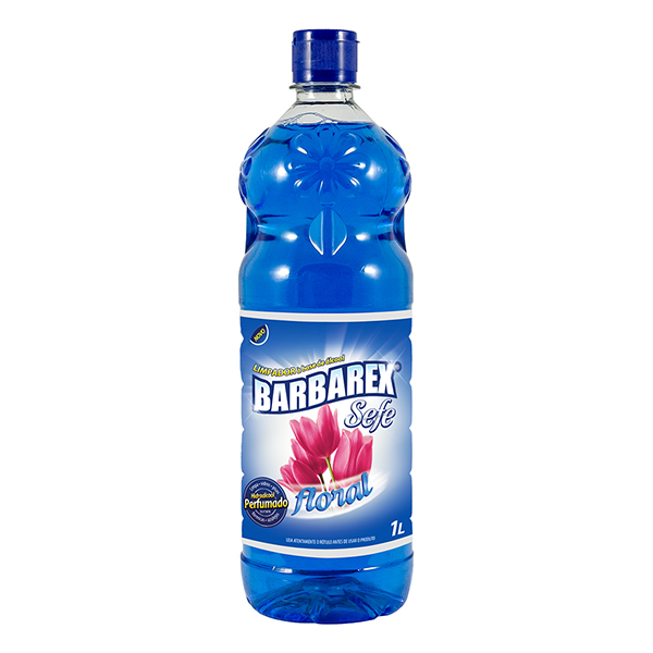 Limpador c/ Álcool Floral - Barbarex - 1 Litro