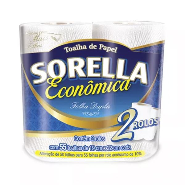 Papel Toalha Cozinha - Sorella - Pct c/ 2 rolos