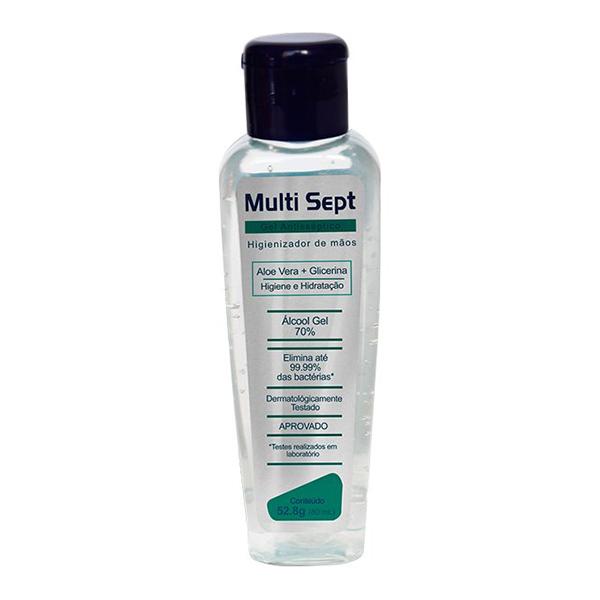 Álcool Gel Antisséptico - Multi Sept - 60 ml