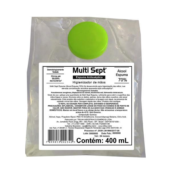 Álcool Espuma Antisséptica - Multi Sept - 400 ml
