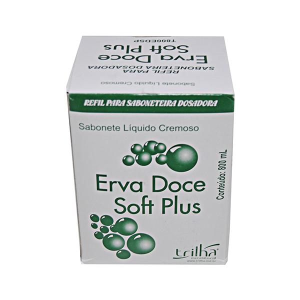 Sabonete Líquido Soft Plus - Erva-Doce - Trilha - Refil 800 ml