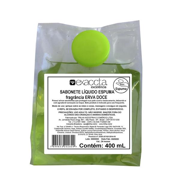 Sabonete Espuma Extrato de Erva-doce - Exaccta - 400 ml