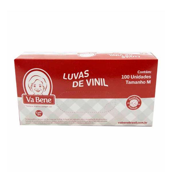 Luva Vinil com Pó - M - 100 Uni - Vabene
