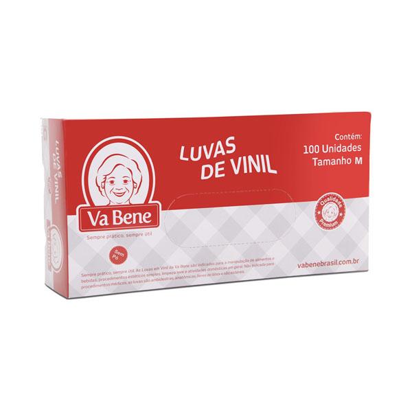 Luva Vinil sem Pó - M - 100 Uni - Vabene