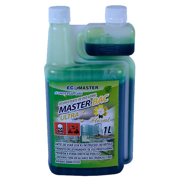 Master Bac - Ultra Floral - 1lt - Desinfetante
