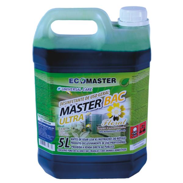 Master Bac - Ultra Floral - 5lts - Desinfetante