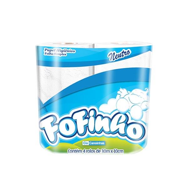 Papel Higiênico Fofinho - 16x4x30 - Folha simples