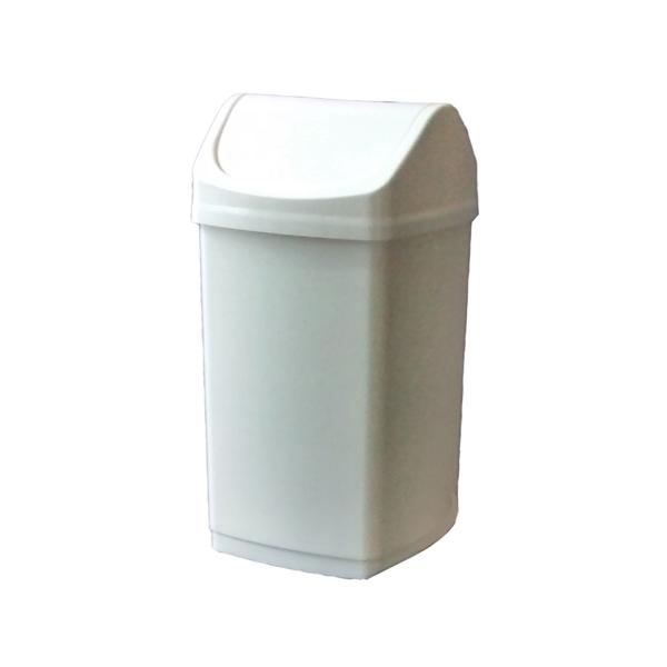 Lixeira Basculante Branca - 50 Litros