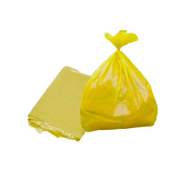 Saco lixo - 100 Lts - 100 uni - Amarelo - Servlimp